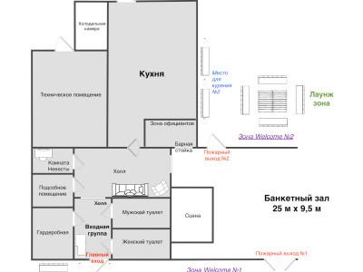 План помещений банкетного зала